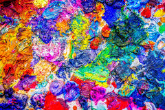 Colors of palette Stock Images