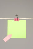 Colors paper on washing line Stock Image