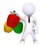 Colors of Paprika. High Class rendered figure for perfect message transportation Stock Photos