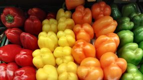 Colors. Paprika red yellow green orange Stock Photography