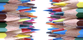 Colors pencils. Group of colors pencils in background white Stock Photo