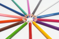 Colors pencils Stock Photos