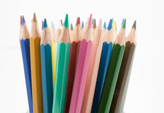 Colors pencils set Royalty Free Stock Photography