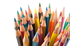Colors pencils set Royalty Free Stock Images