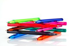 Colors pens Royalty Free Stock Photography