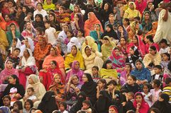 Colors of the people. Colorful clothes of the  women of Pakistan Royalty Free Stock Image