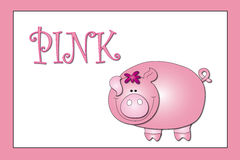 Colors: pink. Stock colors: color pink with pig Stock Photos