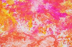 Colors, pink colorful bright pastel vivid spot paint background, watercolor acrylic painting abstract background. Pink purple yellow bright pastel hues, blurred stock image