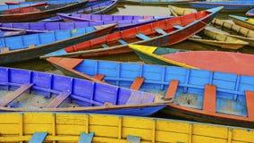 Colors of Pokhara lake Stock Image