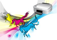 Colors of printer Stock Image