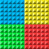 Colors pyramid seamless pattern Stock Photography