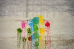 Colors of the rainbow on the wall Stock Photography