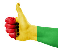 Colors of reggae applied on hand Royalty Free Stock Images