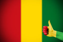 Colors of reggae applied on hand Royalty Free Stock Photo
