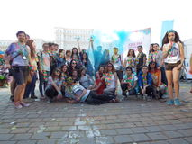 The colors run tropicolor world tour 2016,bucharest. The Color Run Tropicolor World Tour 2016 is bringing a 5k paradise straight to your city with a sweet Royalty Free Stock Photography