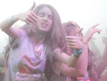 The colors run tropicolor world tour 2016,bucharest. The Color Run Tropicolor World Tour 2016 is bringing a 5k paradise straight to your city with a sweet Stock Photography