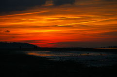colors s-skyen arkivfoto