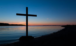 Colors of salvation Cross Royalty Free Stock Image
