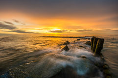 Colors of the sea. Poland,sunset over the baltic sea Stock Photo