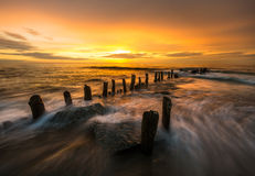 Colors of the sea. Poland,sunset over the baltic sea Royalty Free Stock Photo