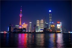 Colors of night Shanghai royalty free stock image