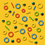 Colors and shapes illustration Stock Photo