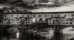 Colors and Shapes of Ponte Vecchio, Florence. Italy Stock Photo
