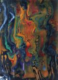 A colors  show abstract painting, ilustration. A color show is  acryling painting  with vibrant colors: orange, red, magenta, white, dark blue, green, orange Royalty Free Stock Image