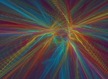 Colors on silk. Colorful 3D rendering, very suitable as a background, because of the many details in full size Royalty Free Stock Images