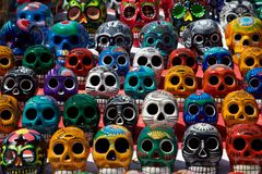 Colors and Skulls Stock Photo