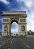 Colors of Sky over Triumph Arc, Paris Royalty Free Stock Image