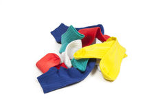 Colors socks. Different colors pairs of socks Royalty Free Stock Photo