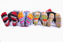 Colors socks Stock Photos