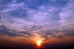 colors solnedgång Royaltyfri Bild
