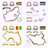 Colors of South Africa, Cape Verde, Guinea and South Sudan Stock Photography