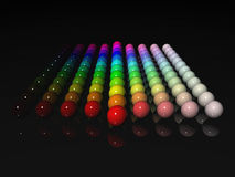 Colors. 12 colors of spectrum with light and dark tones Royalty Free Stock Photos