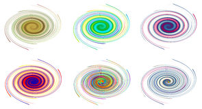 Colors spiral Stock Images