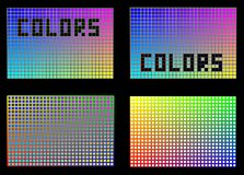 Colors in squares. Royalty Free Stock Image