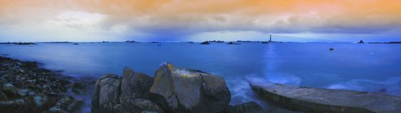 Colors of the storm. Panorama. Panoramical shot on a stormy day Stock Image