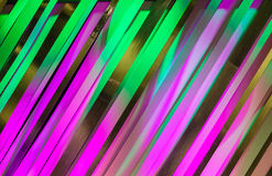 Colors Lights Design Art Frame. Colors of purple green graphic art style reflecting off sixty degree cardboard strips for fine arts graphic design background Stock Images