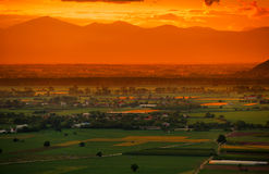 Colors of sunset Stock Photography