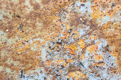 Colors and Surface Texture of Rusty Metal Royalty Free Stock Image