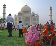 Colors at the Taj Mahal Royalty Free Stock Photo