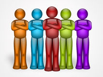 Colors team Stock Photo
