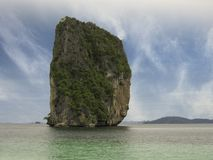 Colors of Thailand Vegetation and Ocean Royalty Free Stock Photography