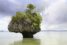 Colors of Thailand Vegetation and Ocean Royalty Free Stock Image