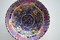 Colors. A traditional turkysh handmade bowl Royalty Free Stock Images