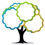 Colors tree empty illustration. Stock Photo