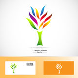 Colors tree logo Stock Photos