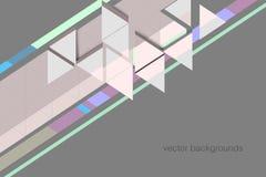 Triangle shapes concept vector scene Stock Photo